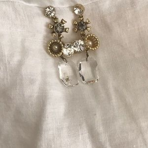 Spartina 449 Jewelry - Spartina crystal pearl look dangle post earrings